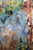 Peeling paint and rusty old metal texture.  stock image