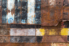 Peeling paint and rusty old metal texture.  stock photos