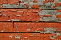 Peeling paint from siding Stock Photos