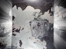 Peeling paint texture 3d presentation Stock Photography