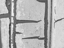 Peeling paint texture. Black and white background texture. Royalty Free Stock Images