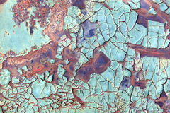 Peeling paint very old car door and rusty texture background Stock Images