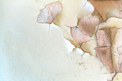 Peeling paint on wall Background Stock Image