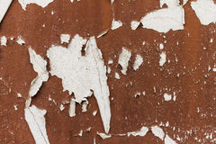 Peeling paint on wall Royalty Free Stock Photo