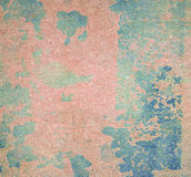 Peeling paint on wall seamless texture. Pattern of rustic blue grunge material.  Stock Photography