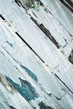 Peeling paint on weathered wood royalty free stock image