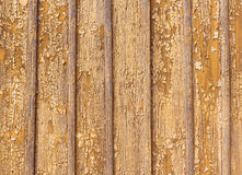 Peeling paint on a wooden wall background. Sample Royalty Free Stock Photography