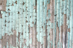 Peeling paint wooden wall background texture Royalty Free Stock Image