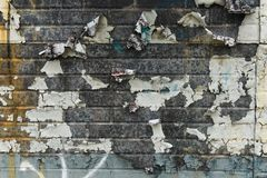 Peeling Painted Wall 0094. Peeling painted wall in an urban setting royalty free stock images