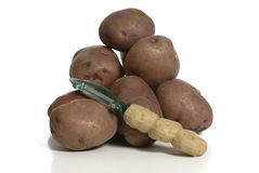 Peeling Potatoes Stock Photography