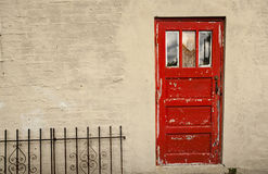 Peeling Red Door Royalty Free Stock Photography