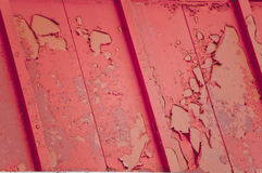 Peeling red paint Royalty Free Stock Photo