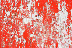 Peeling red paint background Royalty Free Stock Image