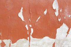 Peeling red wall Stock Photos