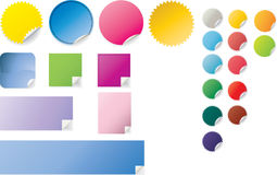 Peeling stickers Stock Photography