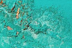 Peeling turquoise paint Royalty Free Stock Photography
