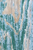 Peeling turquoise wood Royalty Free Stock Photography