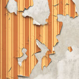 Peeling Wallpaper Stock Photo