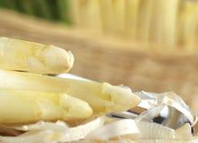 Peeling White Asparagus Royalty Free Stock Photos