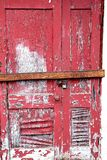 Peeling, Worn, Boarded Up Door royalty free stock photography