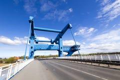 Peenebrücke Bascule Bridge in Wolgast Stock Images