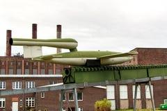 PEENEMUENDE, ALLEMAGNE - 21 septembre 2017 : Territoire du centre de recherche d'armée Fusées V-1 et V-2 développées par WW-II Vu Photo libre de droits