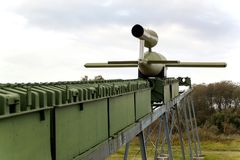 PEENEMUENDE NIEMCY, Wrzesień, - 21, 2017: Terytorium wojska Badawczy centrum WW-II rozwijać V-1 i V-2 rakiety Widok Fotografia Stock