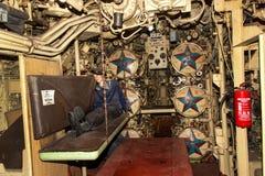 PEENEMUENDE TYSKLAND - September 21, 2017: Den konventionellt drev ubåten U-461 av den tidigare baltiska sovjetiska marinen tillh Royaltyfri Fotografi