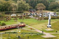 PEENEMUENDE TYSKLAND - September 21, 2017: Territorium av arméforskningscentret WW-II framkallade raket V-1 och V-2 Sikt av Arkivfoton