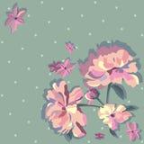 Peeonies rosados stock de ilustración