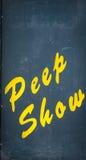 Peep Show-Zeichen lizenzfreie stockbilder