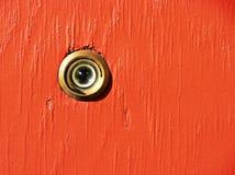 Peephole dell'occhio Fotografia Stock Libera da Diritti