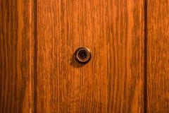 Peephole. Door peephole in the front door Stock Image