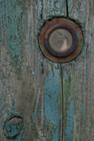 Peephole in the door of the old Stock Photo