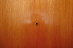 Peephole in door. royalty free stock photography