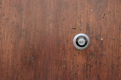 Peephole on the door. Day Royalty Free Stock Photo