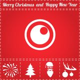 Peephole Icon Vector. And bonus symbol for New Year - Santa Claus, Christmas Tree, Firework, Balls on deer antlers Stock Photography