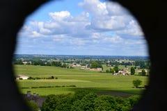 Peephole landscape Royalty Free Stock Images