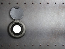 Peephole on metal armored door Stock Images