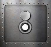 Peephole on metal armored door 3d illustration Stock Photos
