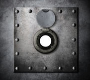 Peephole or peep hole in metal armored door Stock Photography