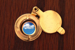 Peephole to the better world Stock Photography