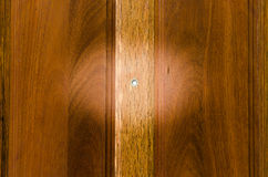 Peephole on wooden door Royalty Free Stock Photo