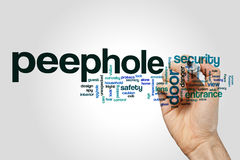 Peephole word cloud Stock Photography