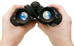 Peeping tom ... Royalty Free Stock Photos