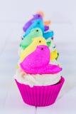 Peeps Easter Cupcakes Royalty Free Stock Photo