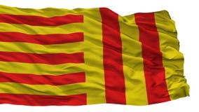 Peer City Flag, Belgio, isolato su fondo bianco Illustrazione di Stock