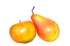 Peer en appel Royalty-vrije Stock Afbeeldingen