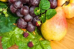 Peer en druiven Stock Foto