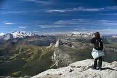Peer at mountains Royalty Free Stock Photo